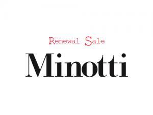 9年目にして初のセール! 高級ブランド・Minottiが最大70%オフのセー…