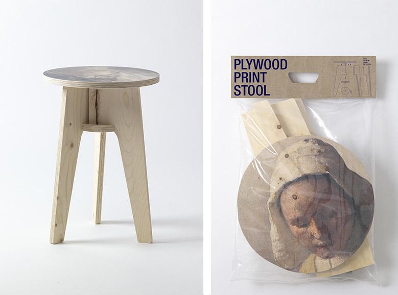 Plywood Print Stool