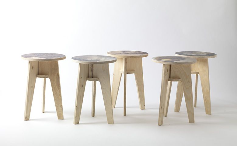 Plywood Print Stool