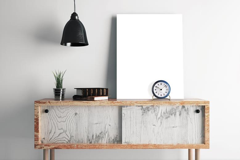 Arne Jacobsen Table Clock Station BLUE_001
