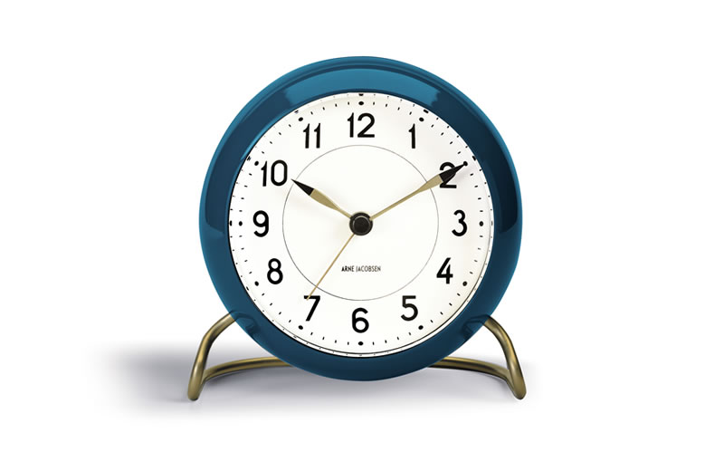 Arne Jacobsen Table Clock Station BLUE_002