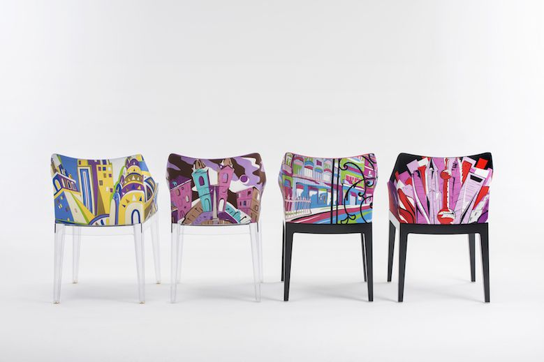 Kartell madame pucci for Poltroncine colorate