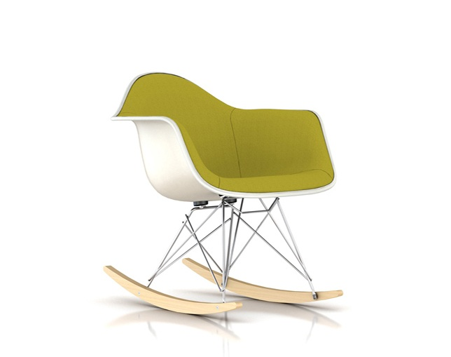 Herman Miller Eames Upholstered Molded Fiberglass Armchair Rocker Baseのメイン写真
