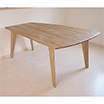 マルミヤ 変形ダイニングテーブルの写真