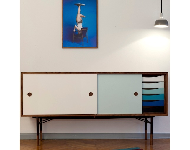 Onecollection Sideboard with Tray Unit(引出しあり)のメイン写真