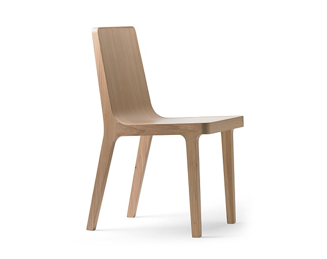 ALKI Chair back and seat in wood / fabric / leatherのメイン写真