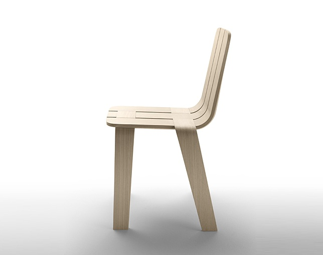 ALKI Chair in oak - seat and back in oakの写真