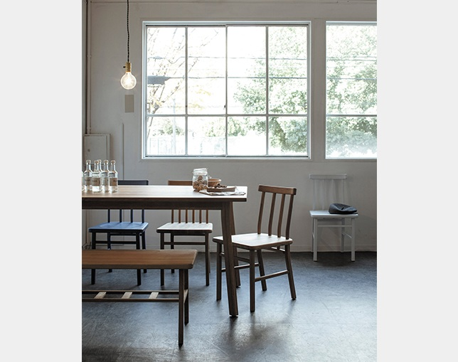 SIEVE merge dining benchの写真