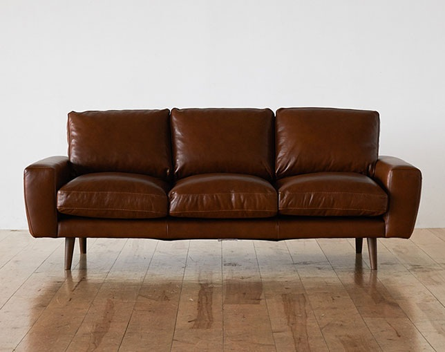 unico MOLN leather sofa 3 seaterの写真