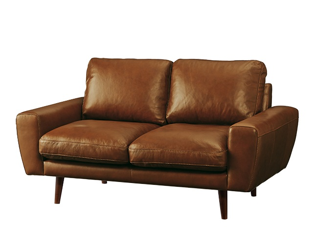 unico MOLN leather sofa 2 seaterのメイン写真