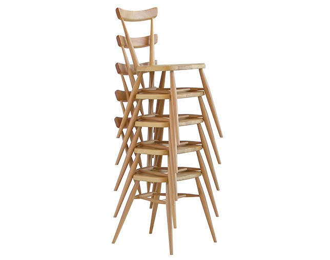 ercol 392 stacking chairの写真