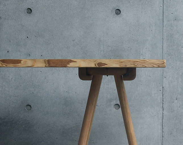 knot uma × live edge table topの写真
