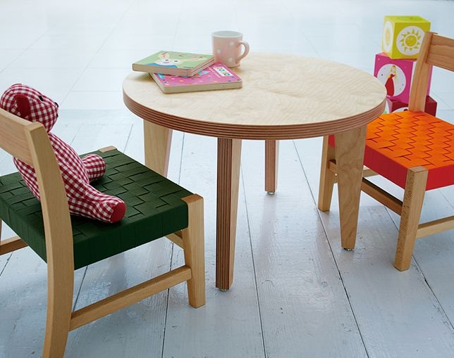 Baobab Kids-Table paper wood(円形)のメイン写真