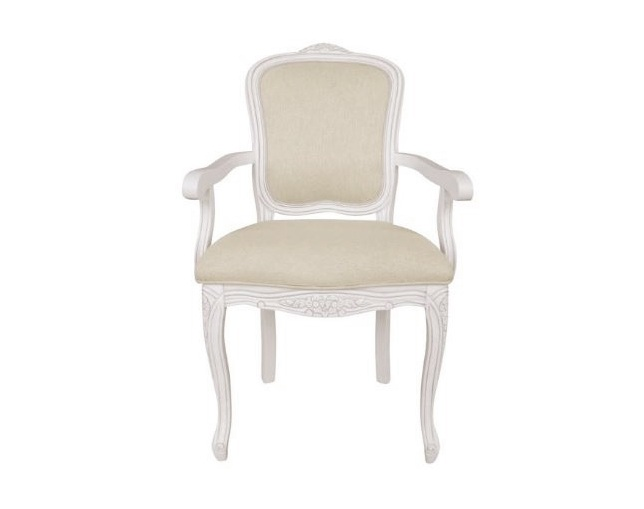 LAURA ASHLEY Provencale upholstered carver chairのメイン写真