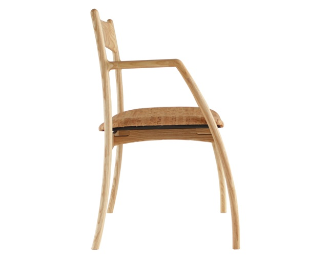 ANP interior design ANP chair with Arm(Wild Cherry/White Ash)のメイン写真