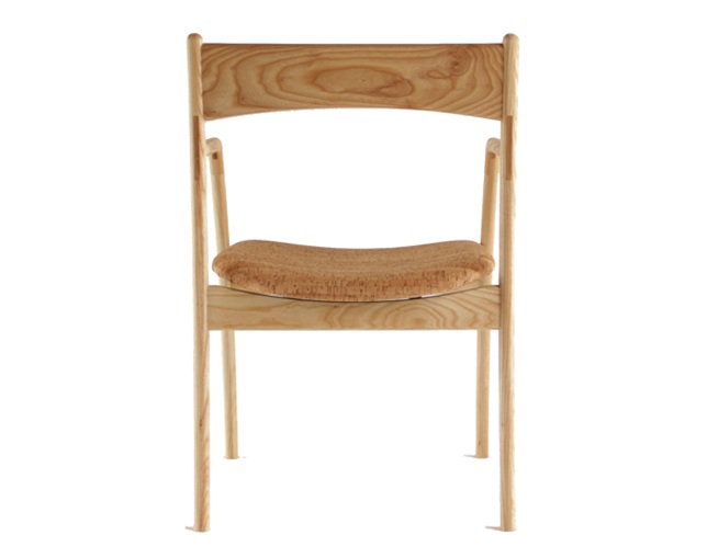 ANP interior design ANP chair with Arm(Wild Cherry/White Ash)の写真