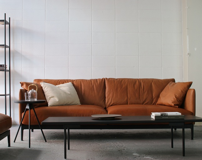 MCRAFT dual dual sofa 3P leatherの写真